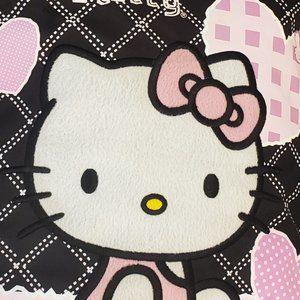 Hello Kitty Zippered Tote W/ White Furry Head/Body